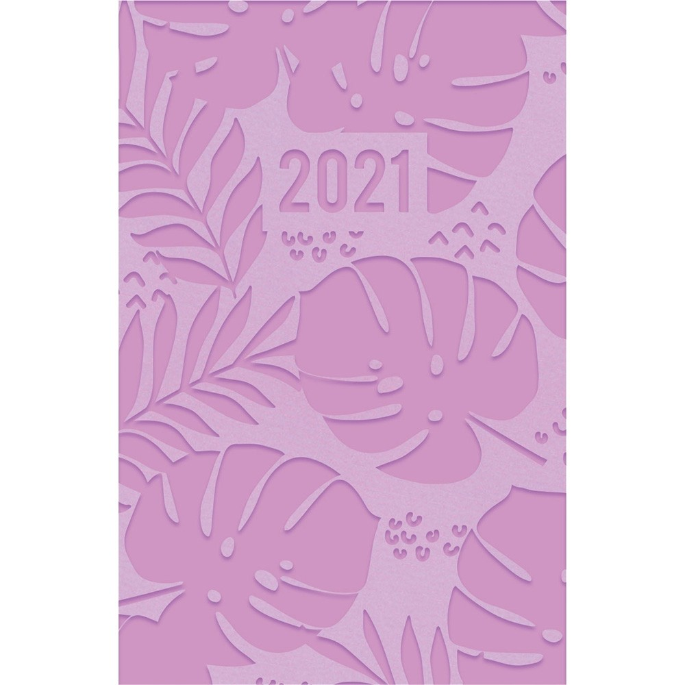 EMBOSSED 2021 POCKET DIARY - FLORAL LILAC