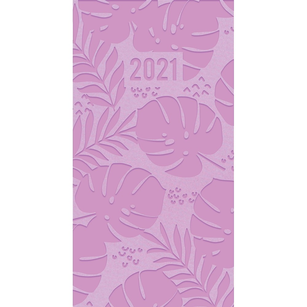 SLIM EMBOSSED 2021 DIARY - FLORAL LILAC