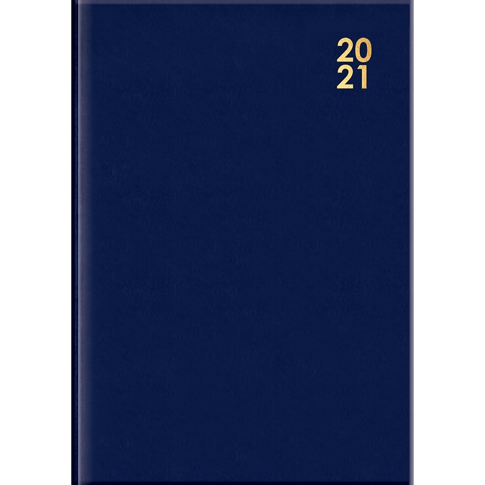 A5 BLUE WEEK-TO-VIEW DIARY 2021
