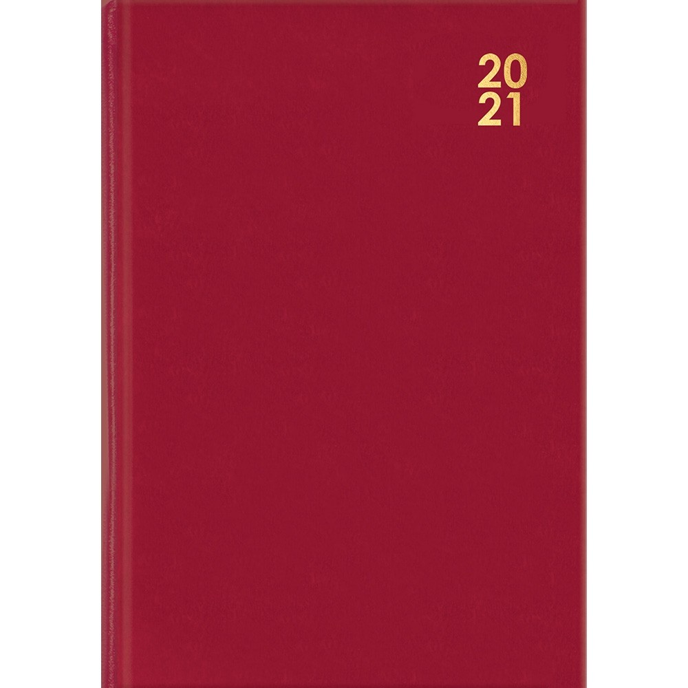 A5 RED WEEK-TO-VIEW DIARY 2021