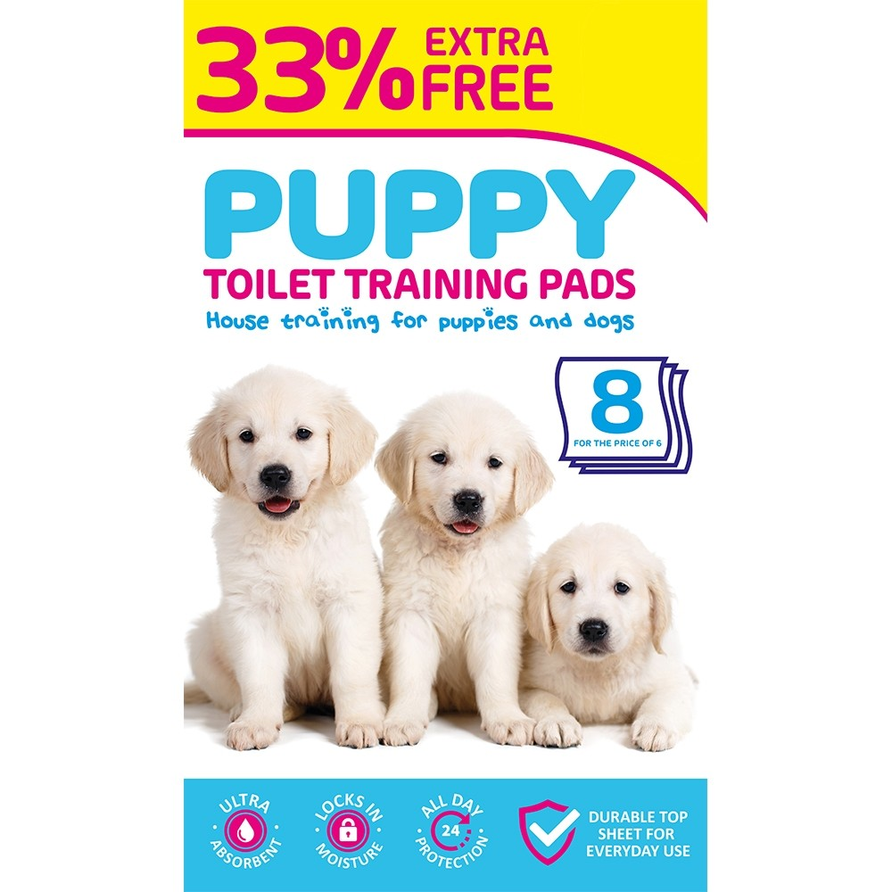 PUPPY PADS PACK OF 6 PACK + 2 FREE