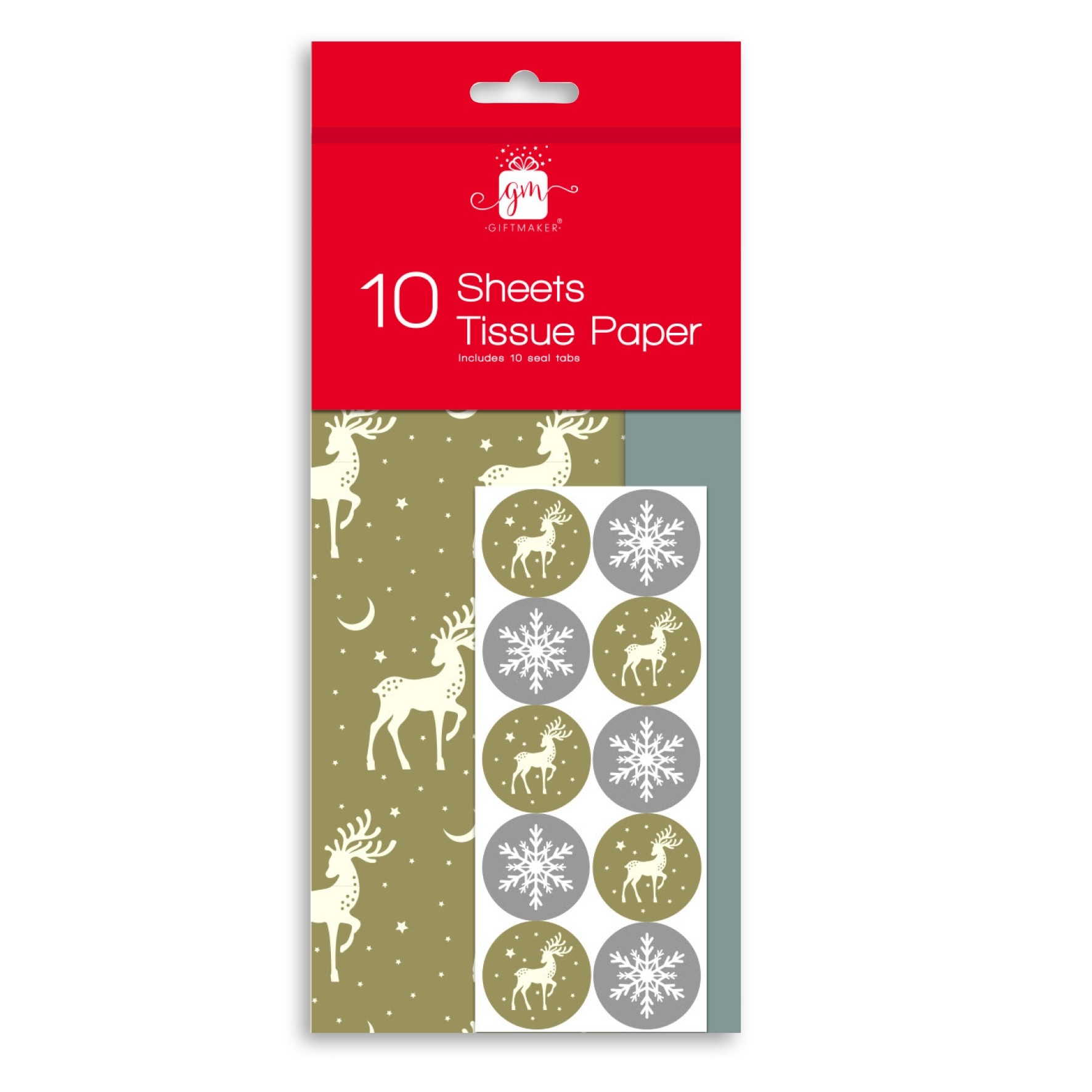 10 SHEET STAG CHRISTMAS TISSUE PAPER
