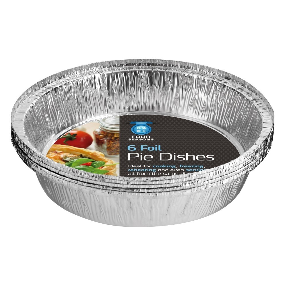 ROUND FOIL PIE DISHES 6 PACK