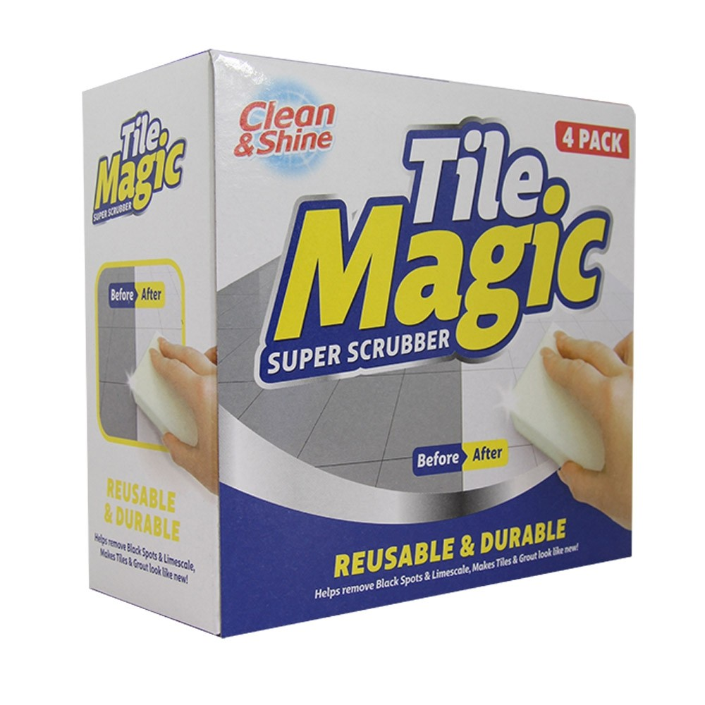 CLEAN & SHINE TILE MAGIC SCRUB 4 PACK
