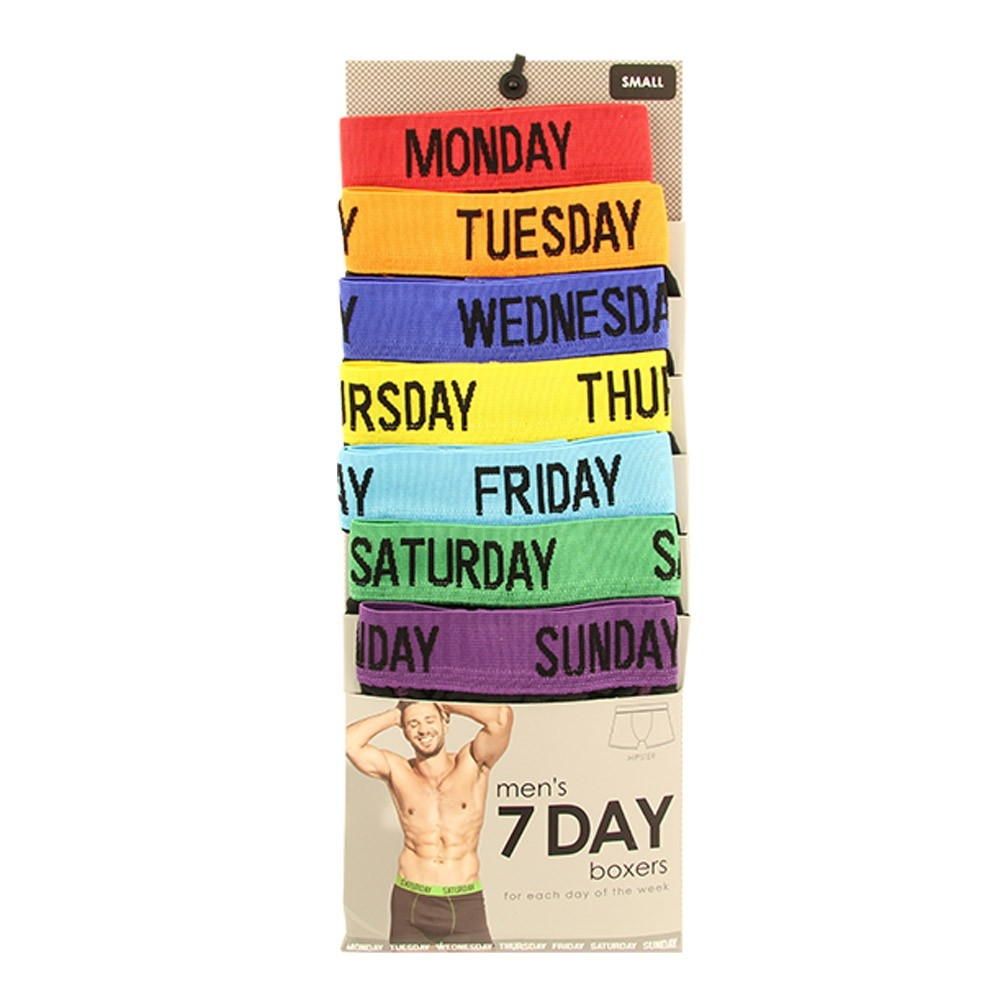 7 DAYS OF THE WEEK MENS BOXERS
