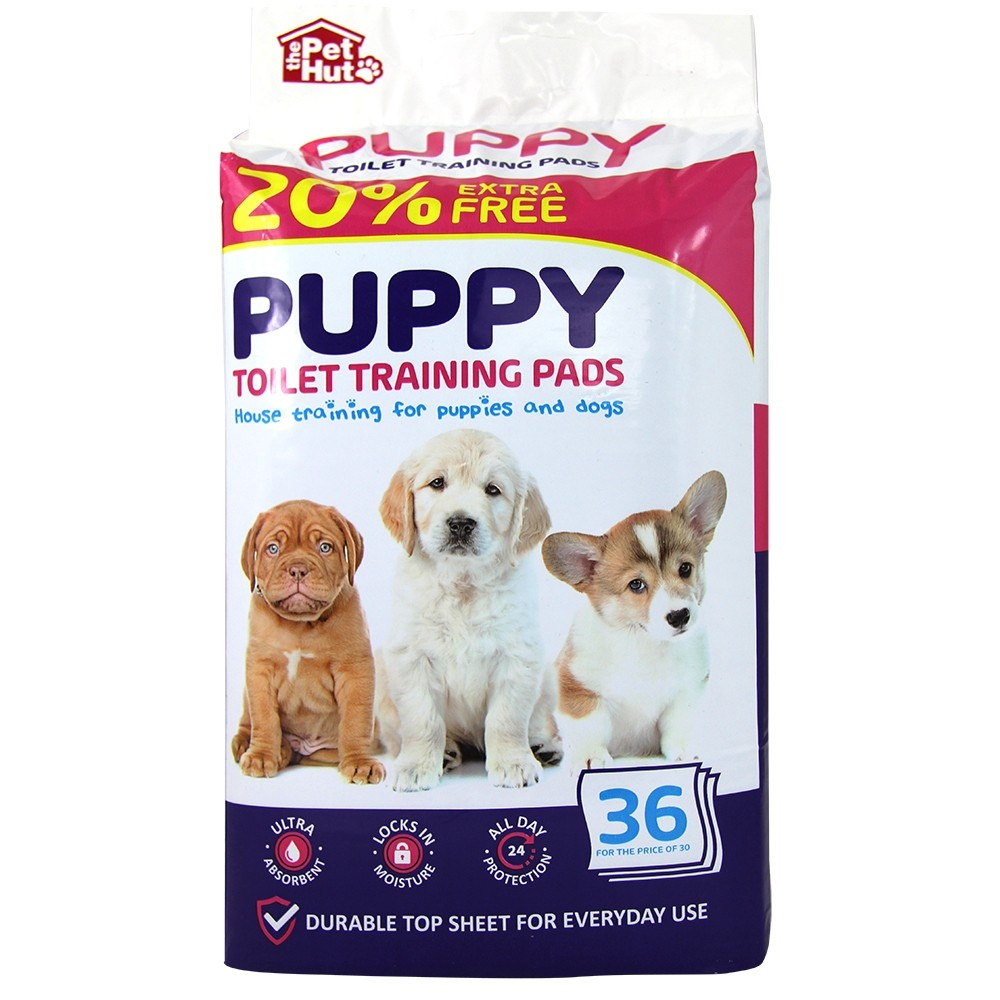 PUPPY PADS 30 PACK + 20% FREE