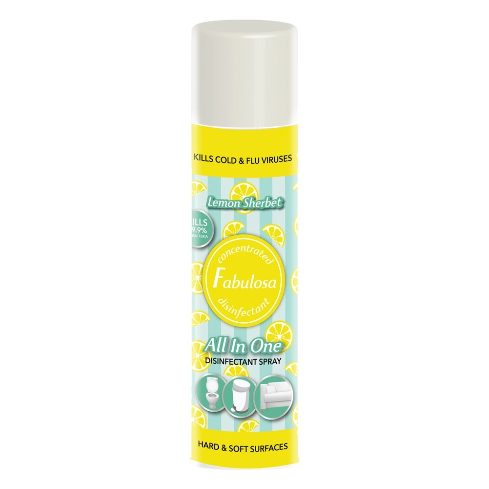 FABULOSA LEMON SHERBET ALL-IN-ONE DISINFECTANT SPRAY 400ML