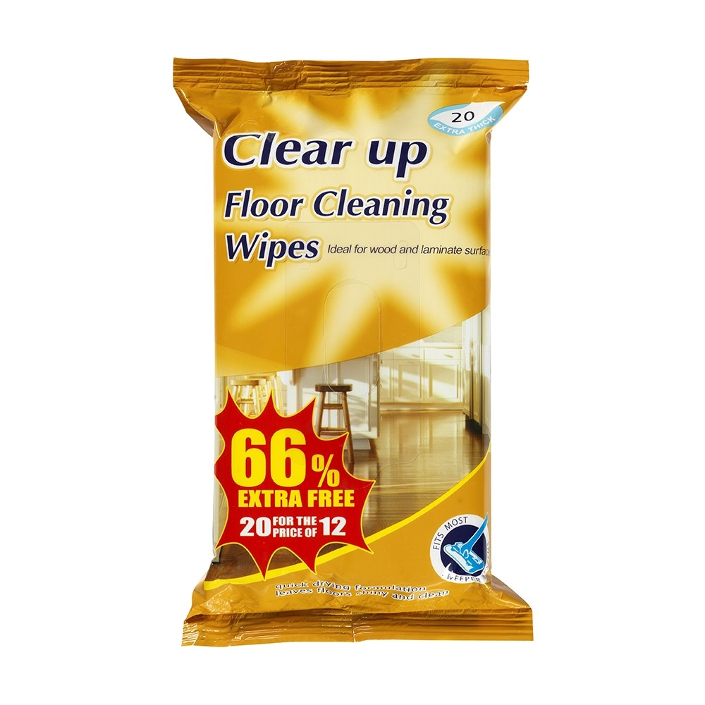 CLEAR UP FLOOR WIPES 20 PACK