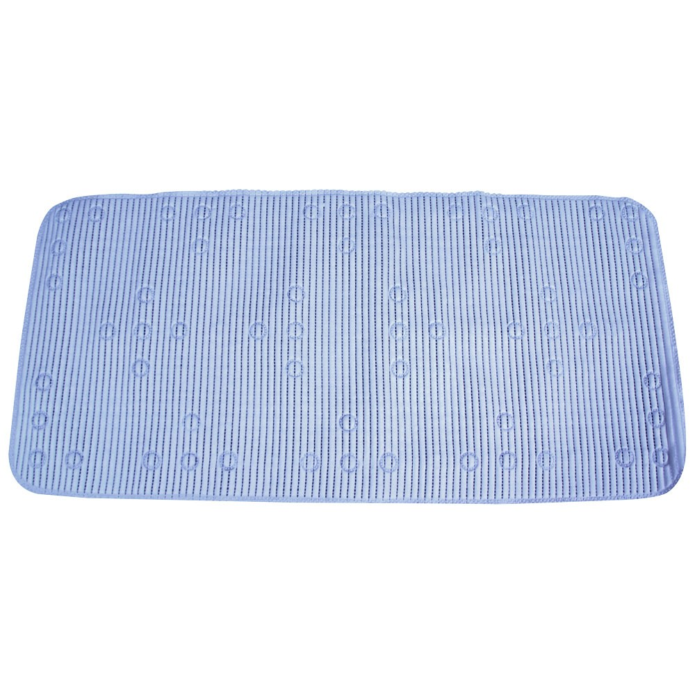 BLUE PVC SUCTION BATH MAT
