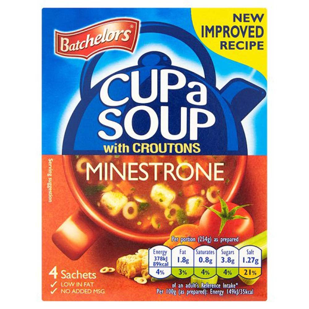 BATCHELORS CUP A SOUP MINESTRONE 4 PACK