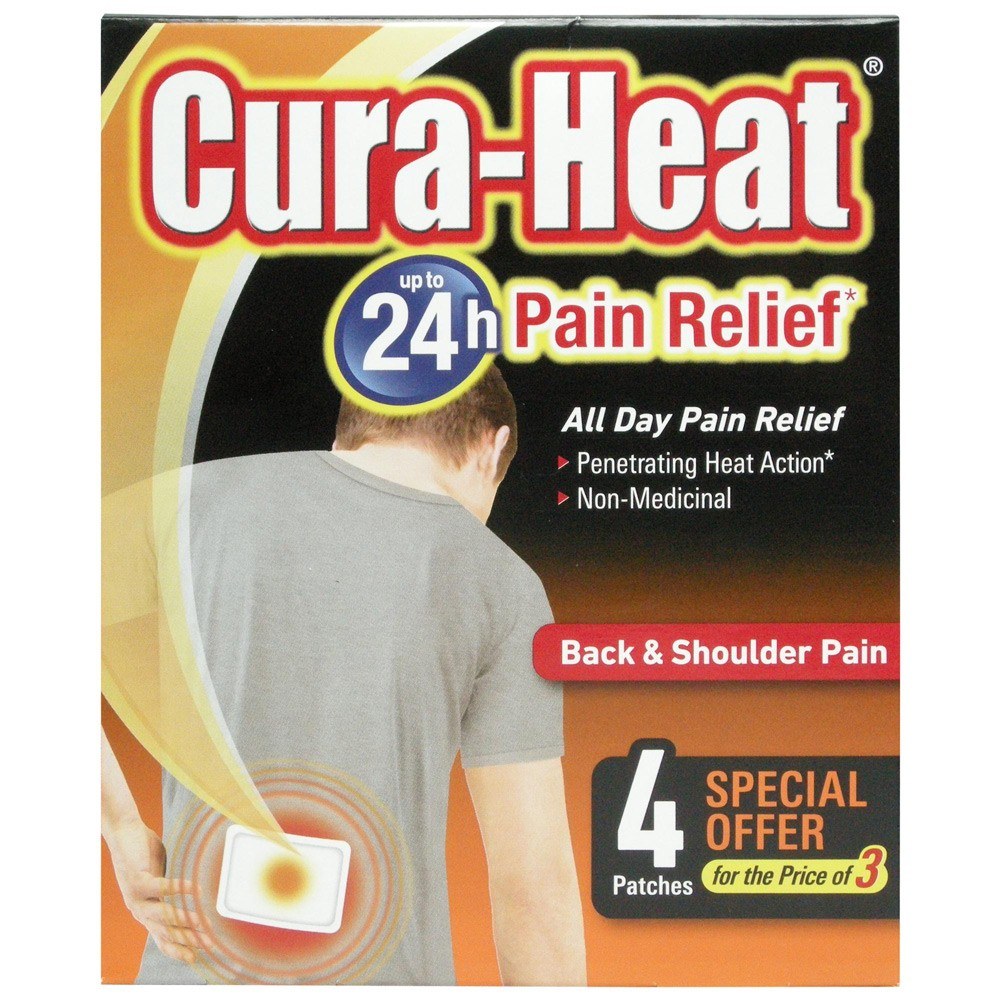 CURA-HEAT PAIN RELIEF 3 + 1 PADS