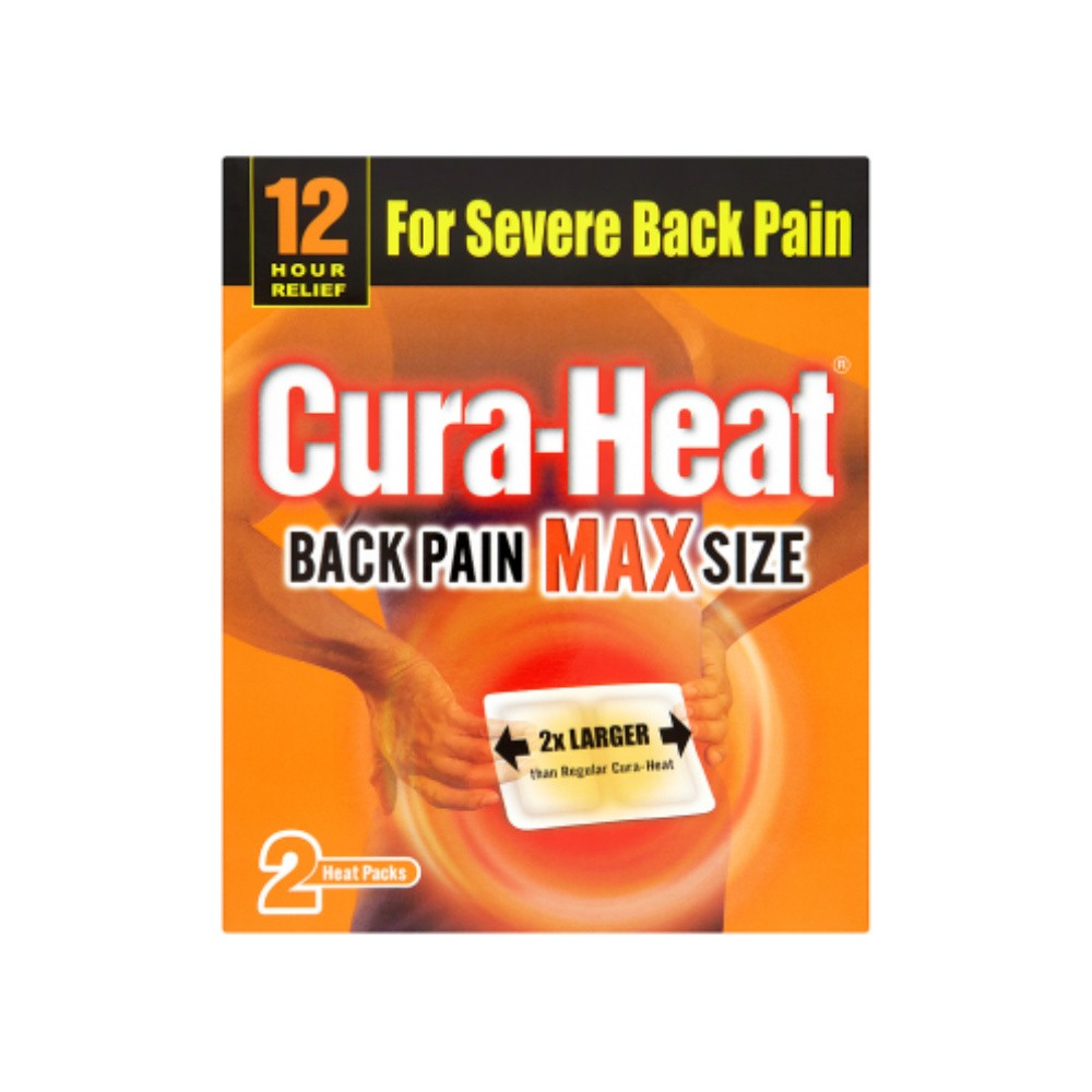 CURA-HEAT MAX RELIEF 2 PADS