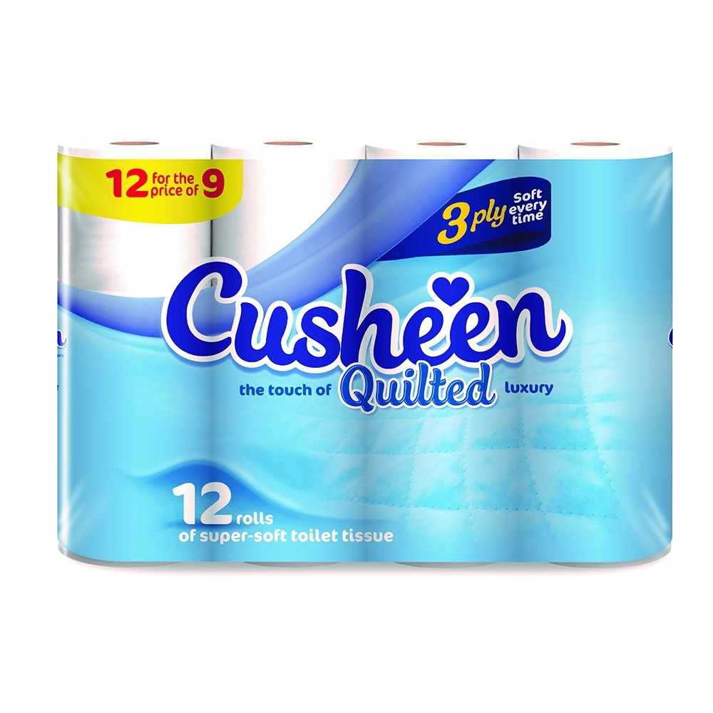 CUSHEEN TOILET ROLL 9 + 3 FREE PACK