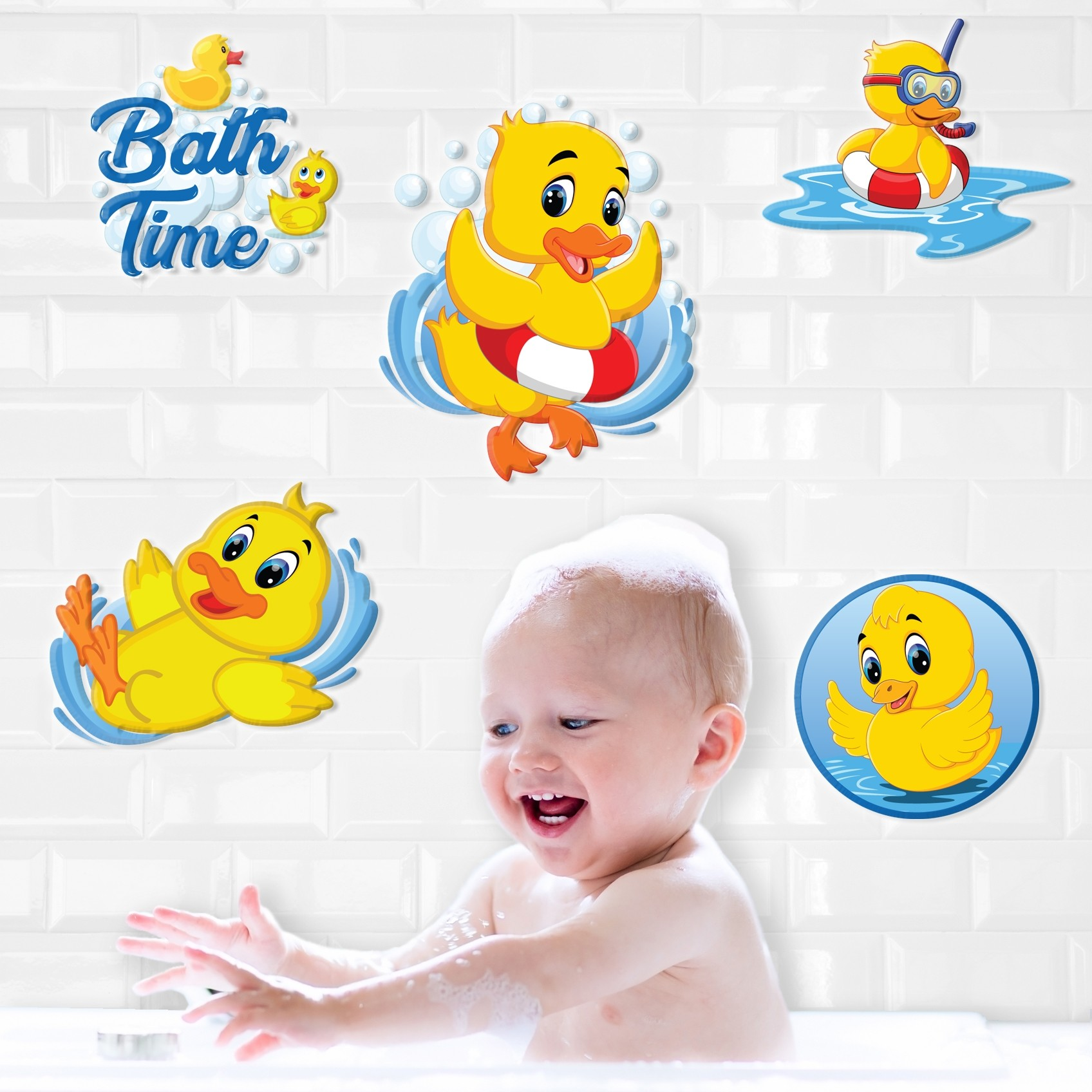 DUCK 3D BATHROOM STICKERS