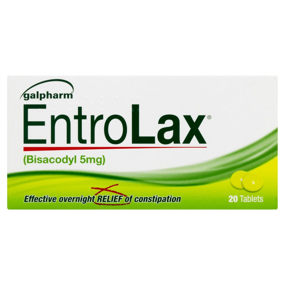 ENTROLAX CONSTIPATION RELIEF 20 TABLETS