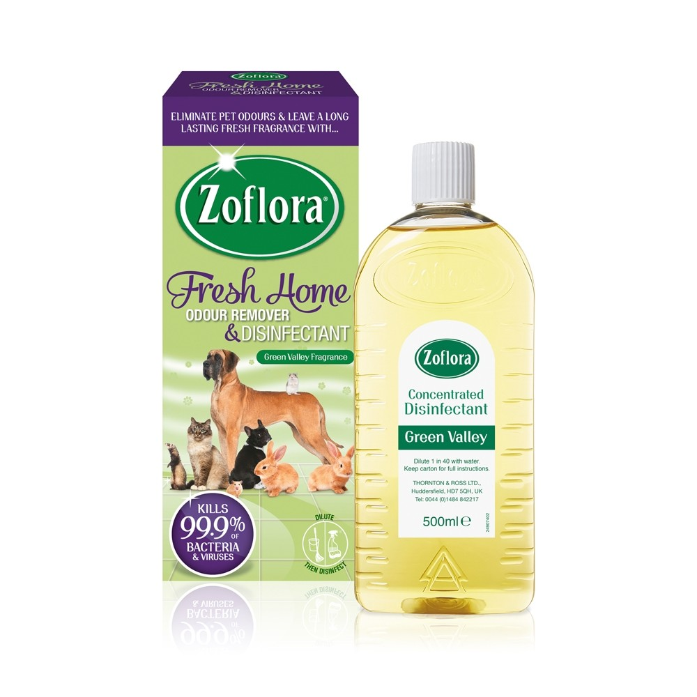 ZOFLORA CONCENTRATED DISINFECTANT FRESH HOME GREEN VALLEY 500ML
