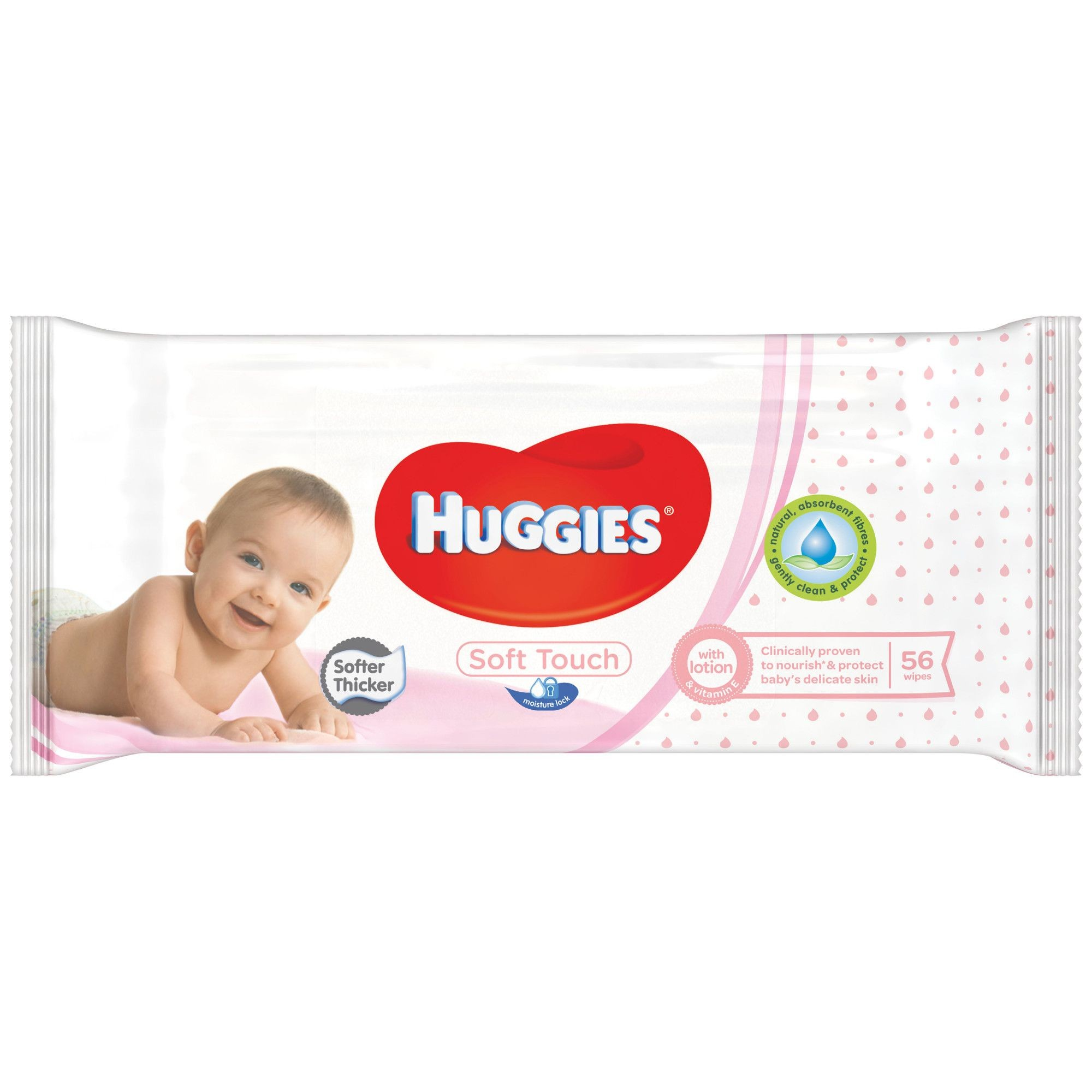 HUGGIES SOFT TOUCH BABY 56 WIPES