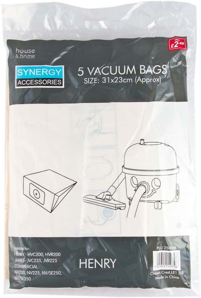 5 PACK HENRY HOOVER BAGS