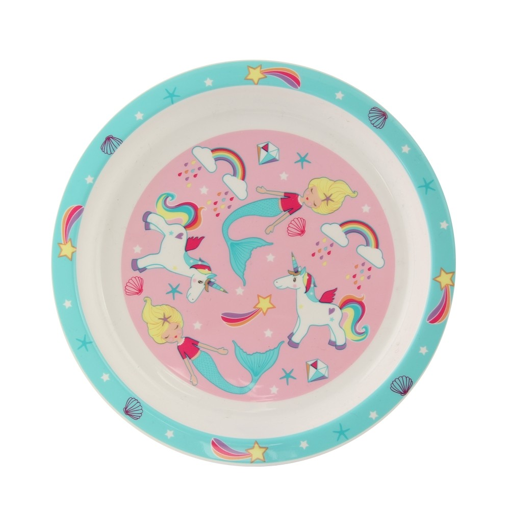 UNICORN & MERMAID PLASTIC PLATE