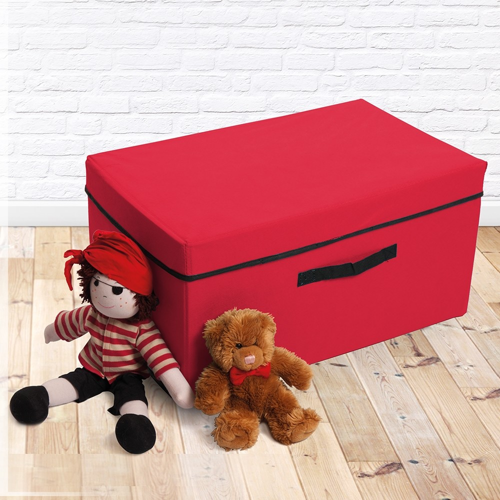 RED NEAT AND TIDY STORAGE BOX