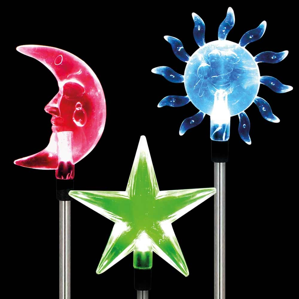COLOUR CHANGING SOLAR STAKE LIGHT ASSORTMENT