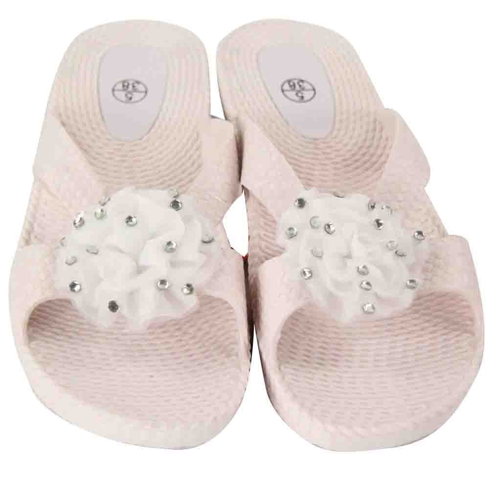 WHITE LADIES FLOWER SANDALS