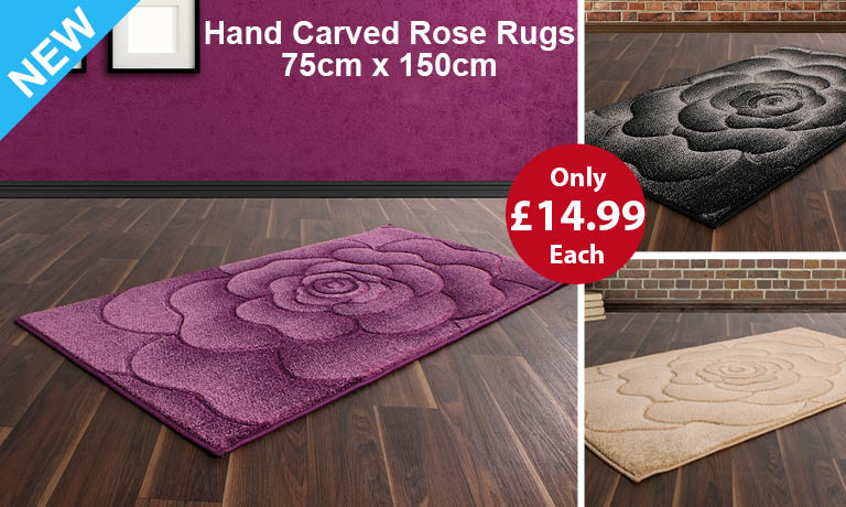 Hand Carved Rose Rugs