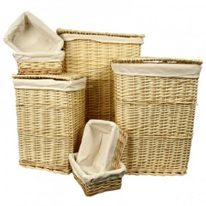 willow laundry basket set