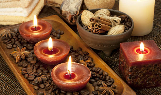 Make your home smell lovely with coffee beans and tea lights