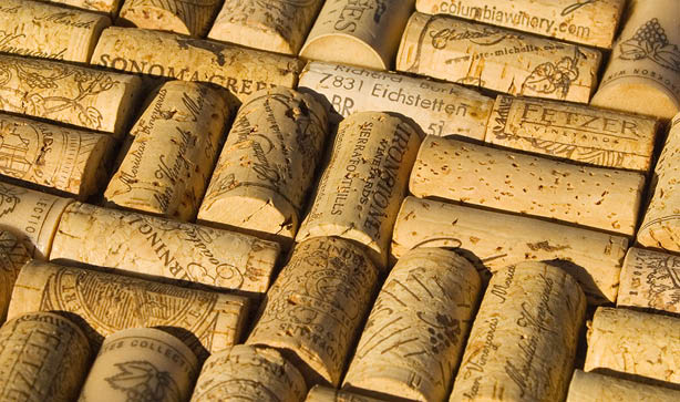 Sticking corks on to a board can make a great memo board for your kitchen