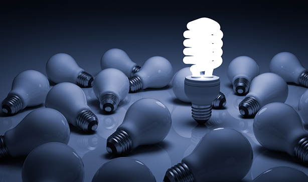 Energy saving lightbulbs are a great way to start being eco friendly
