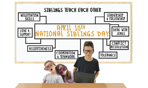 Reward your sibling for teaching you right from wrong this Sibling Day!