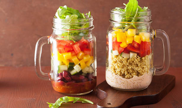 Mason Jar Salads are healthy, nourishing and great value