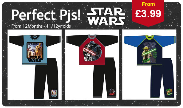 Star Wars Pyjamas for kids ready for the back to school season