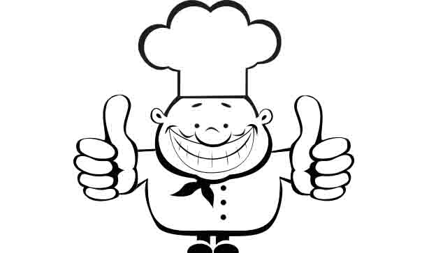 animated chef giving a thumbs up