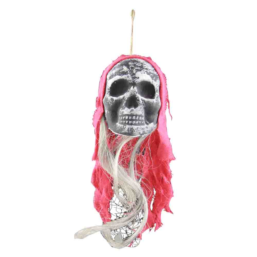 pirate skull face with multi coured bandanas