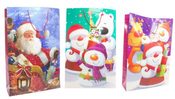 range of fun christmas bags