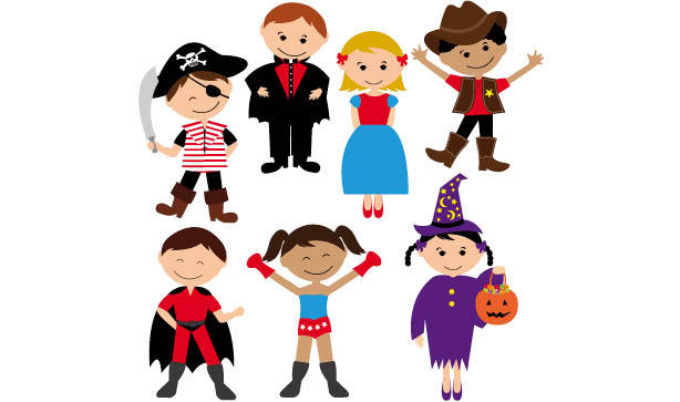 characters dressed in halloween costumes