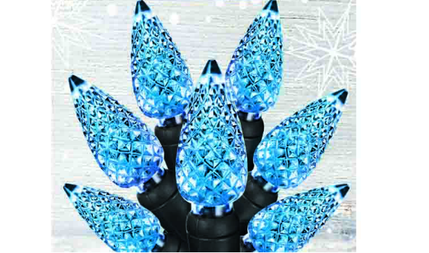 Blue Pine Cone Christmas Lights