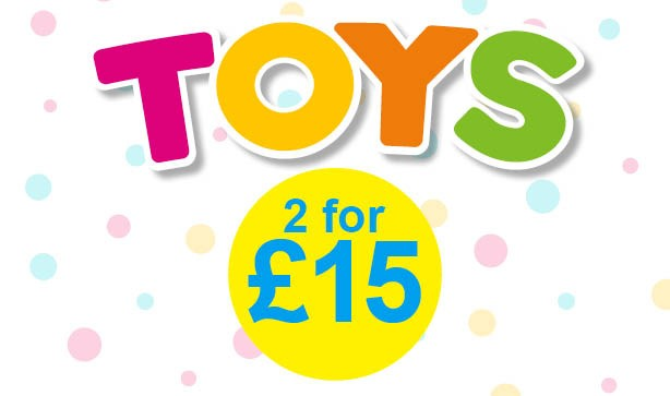 Get Christmas Ready With 2 For £15 Toys!