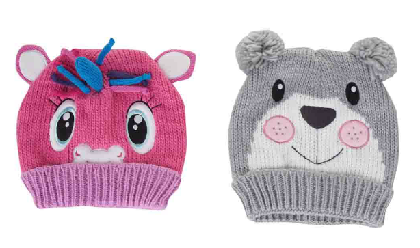 Kids Animal Wool Knit Hats