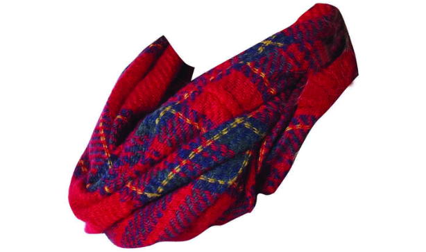 Ladies Kids Checked Snood Scarf