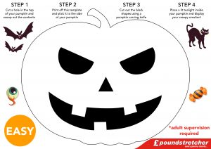 Carve A Petrifying Pumpkin With Ease Using Our Free Downloadable Pumpkin  Templates, Just Print Off, Stick To Your Pumpkin, And Cut Out The Black  Shapes!