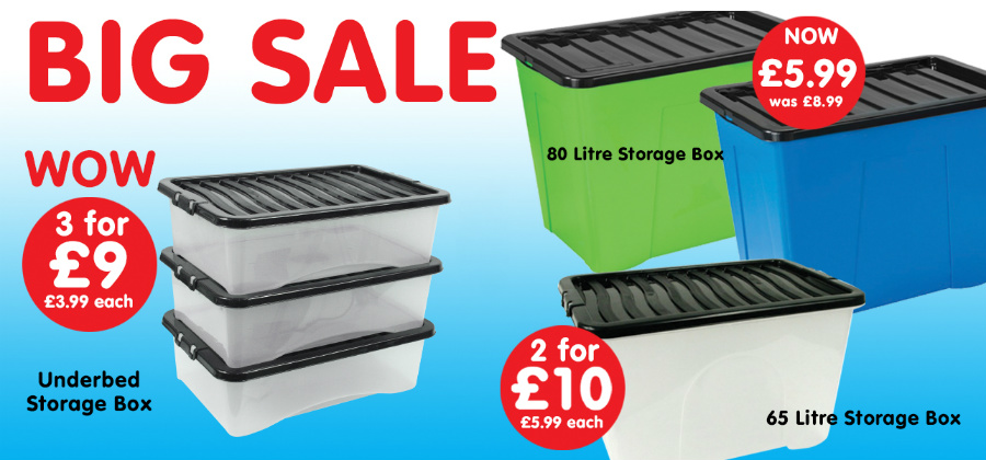 What better way to start the new year than with a nice organised home? How can you achieve this when you have bits and pieces all over the place?  sc 1 st  Poundstretcher & 5 Plastic Storage Boxes For Under £5 Each | Poundstretcher ...