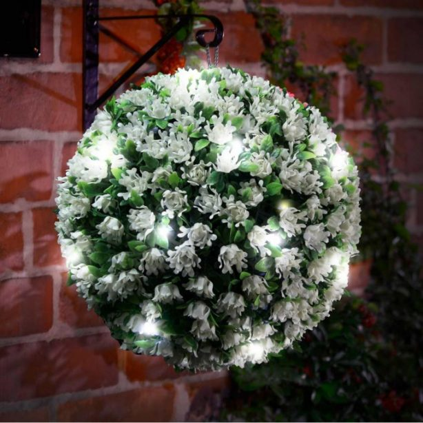 solar light topiary ball