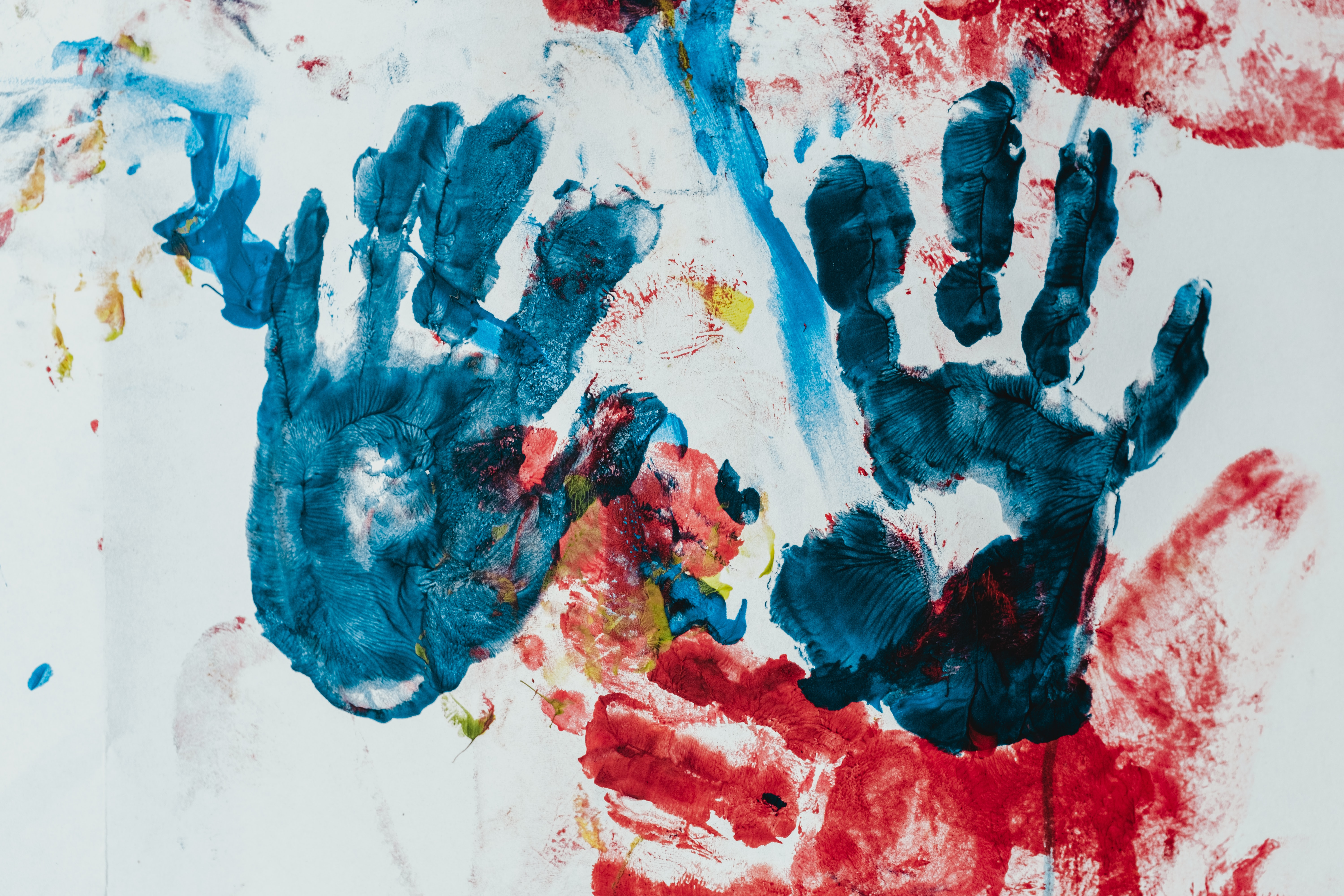 handprints made with paint