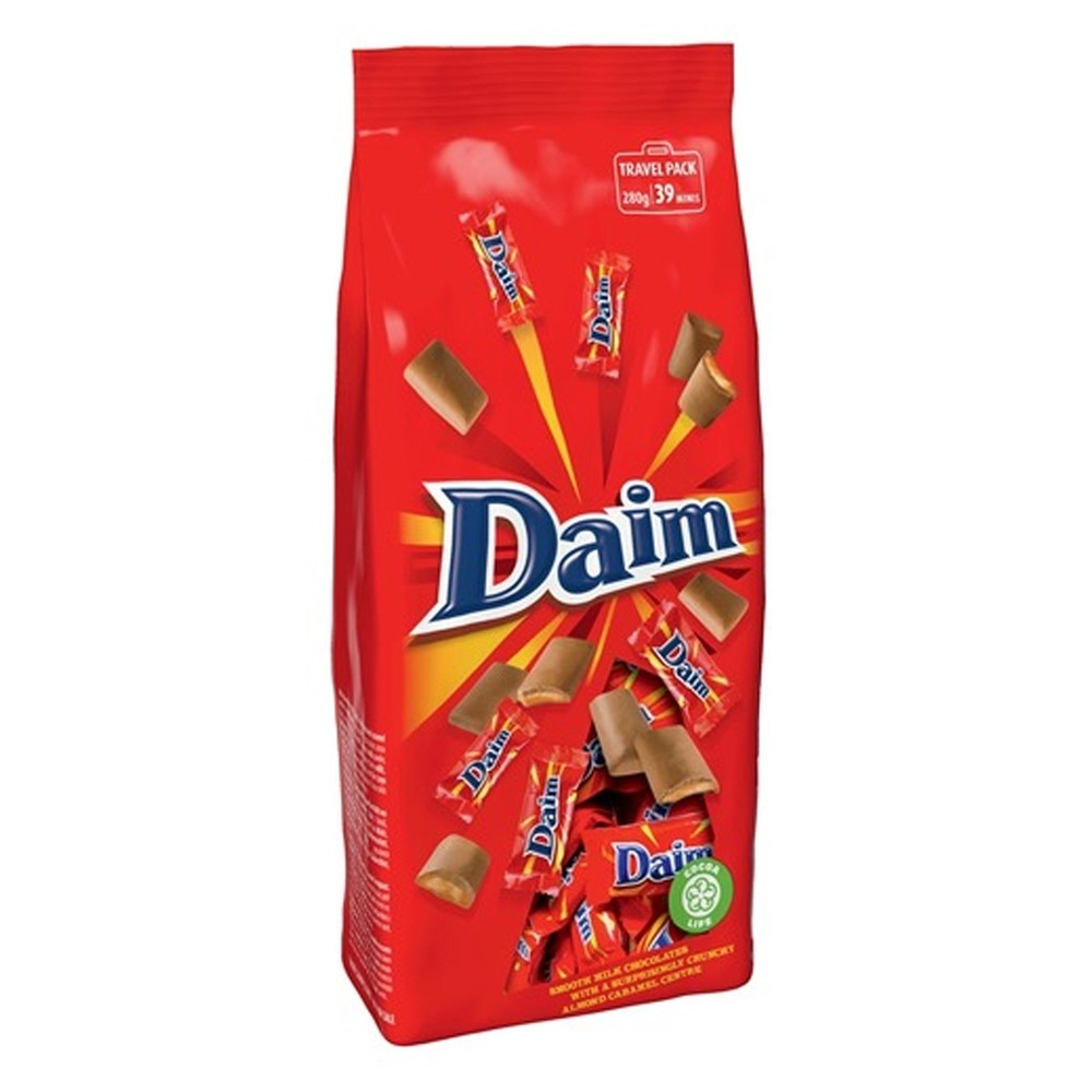 A packet of Daim chocolates