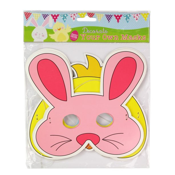 A set of 3 easter bunny masks from Poundstretcher