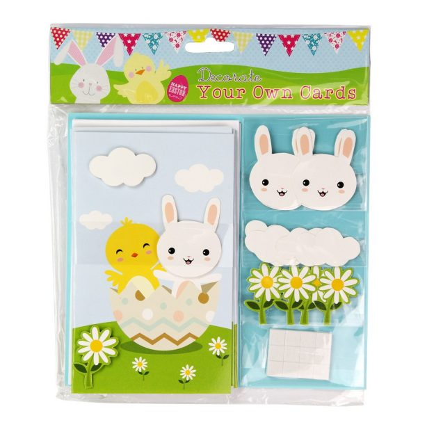 A 5 pack of Decorate your own Easter Cards