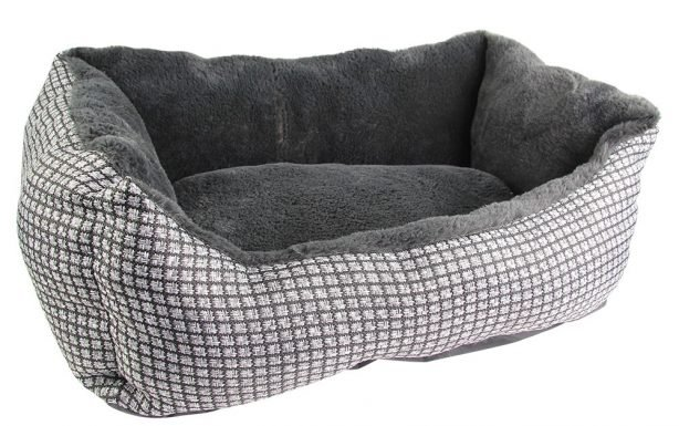 Grey Luxury Square Pet Bed